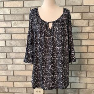 3for$20 blouse black white 4x George